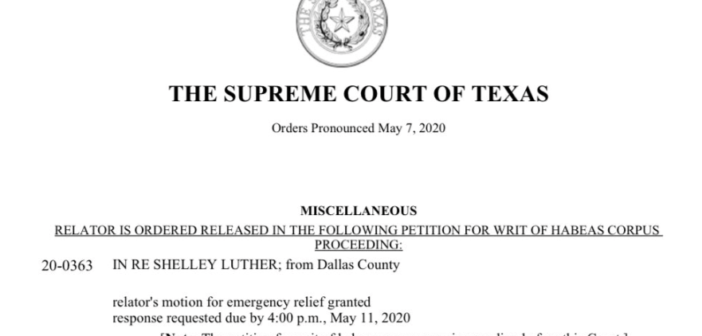 Breaking! Texas Supreme Court Orders Release of Salon Owner!